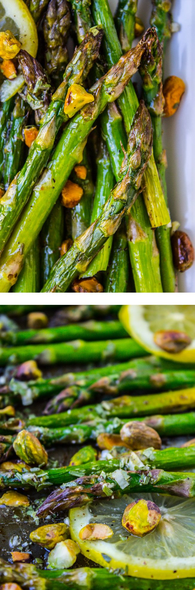 Lemon Asparagus with Pistachios from The Food Charlatan // This easy yet impressive side dish would be perfect for Easter! 15 minutes, tops.