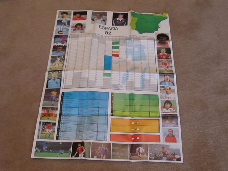 """1982 Espanha Soccer World Cup Poster (24"""" X 36""""). New Condition; Spain Football     eBay"""