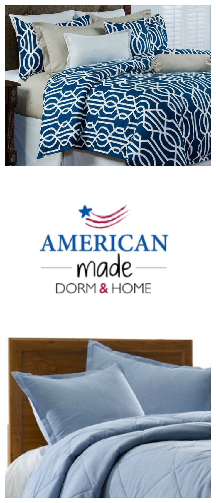 Made in USA college dorm bedding and boarding school bedding | American Made Dorm & Home | Bedding for teens and young adults