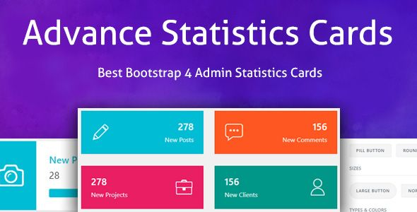 Advance Statistics Cards Bootstrap 4 Admin Statistics Cards Layout Card Layout Architecture Websites Layout