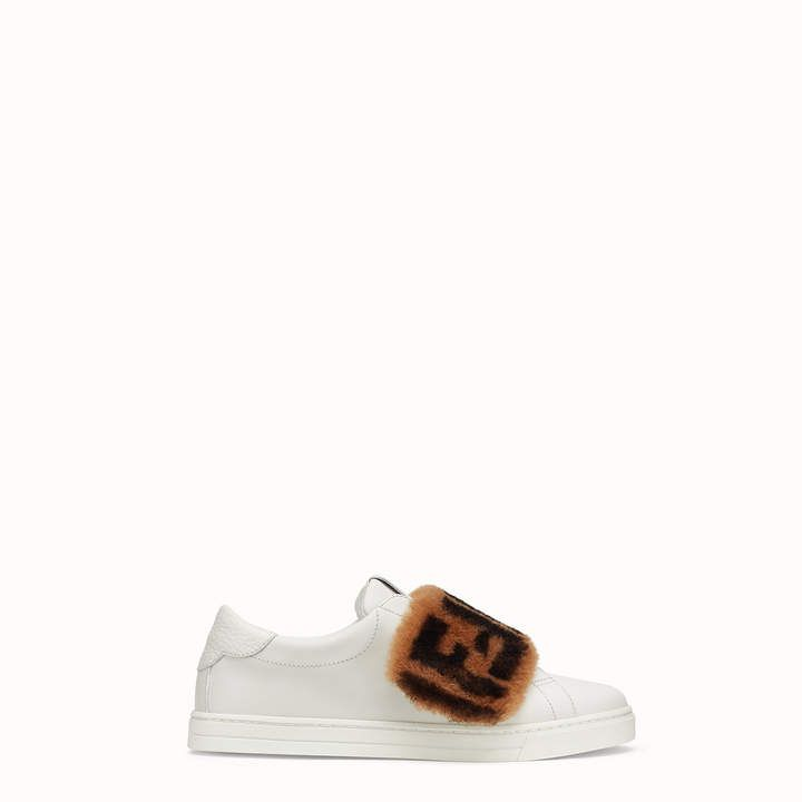 White leather slip-ons - SNEAKERS