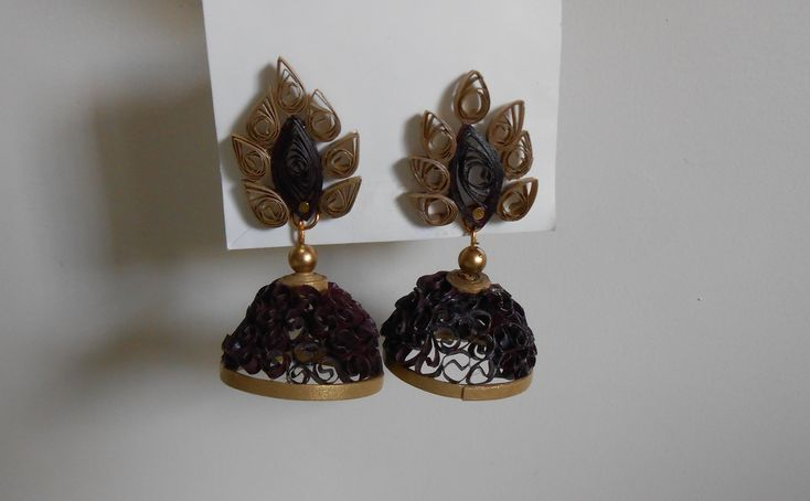 How to Make Unique Beehive Quilling Jhumka. DIY making tutorial