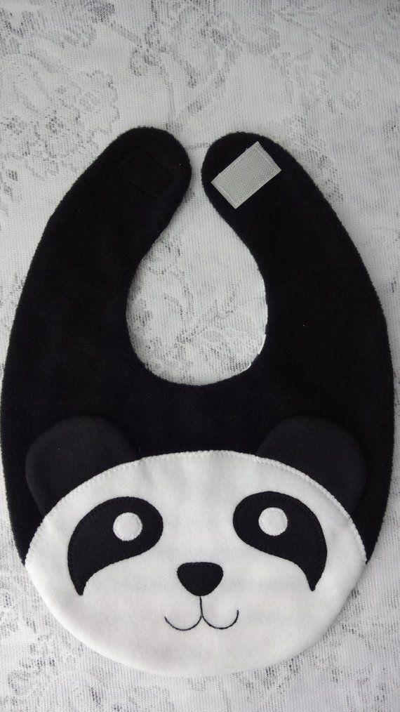 Panda-Lätzchen Baby Lätzchen Tier Reversible Fleece Tier