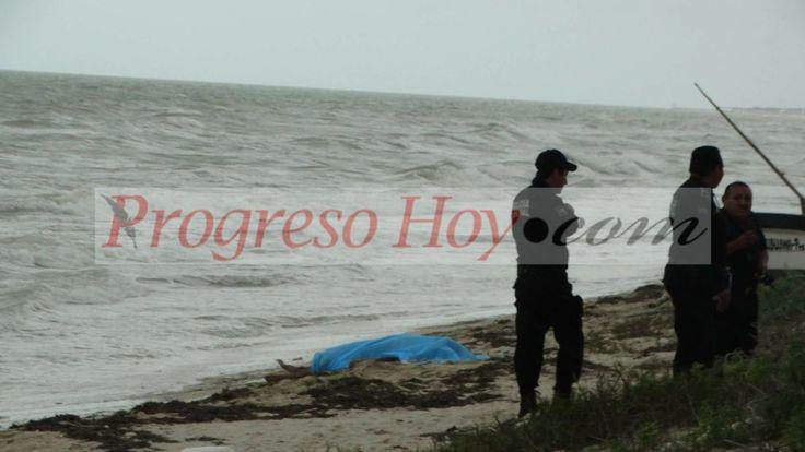Hallan cadáver flotando frente a playas de Progreso
