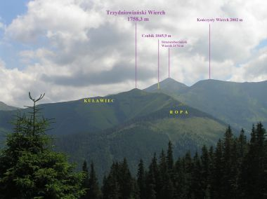Trzydniowiański Wierch - pohled ze sedla Bobrowiecka Przelecz (červenec 2008)