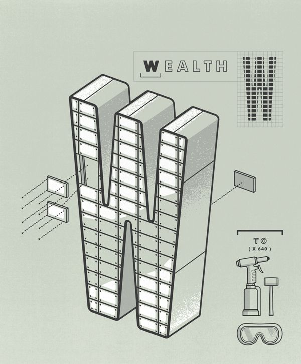 Money Magazine / 101 Ways to Build Wealth by Matt Stevens, via Behance