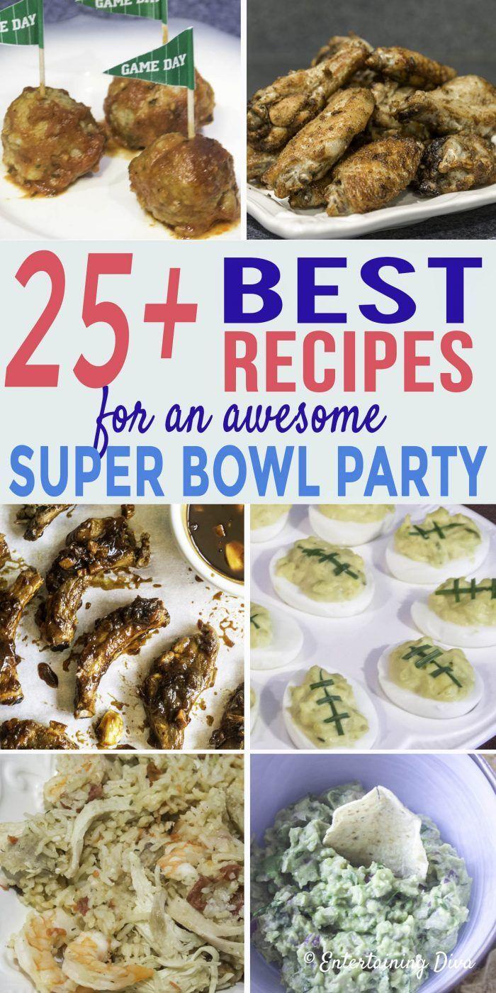 Super Bowl Party Food Menu