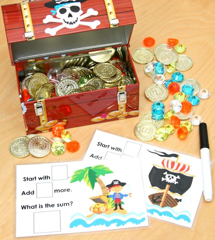 """Pirate's Treasure Chest Math Activity  Brought to you by BlogHer and Disney's """"The Pirate Fairy"""", an All-New Tinker Bell Movie on Blu-ray and Digital HD Apr 1 #PirateFairy #BH #ad"""