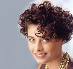 Image result for haircuts for older women, very curly hair