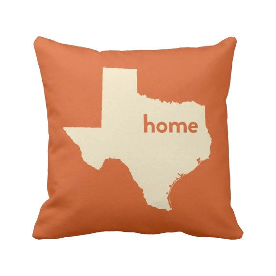 Texas Pillow 16'' or 20'' Home Pillow State by laurenmaryHOME