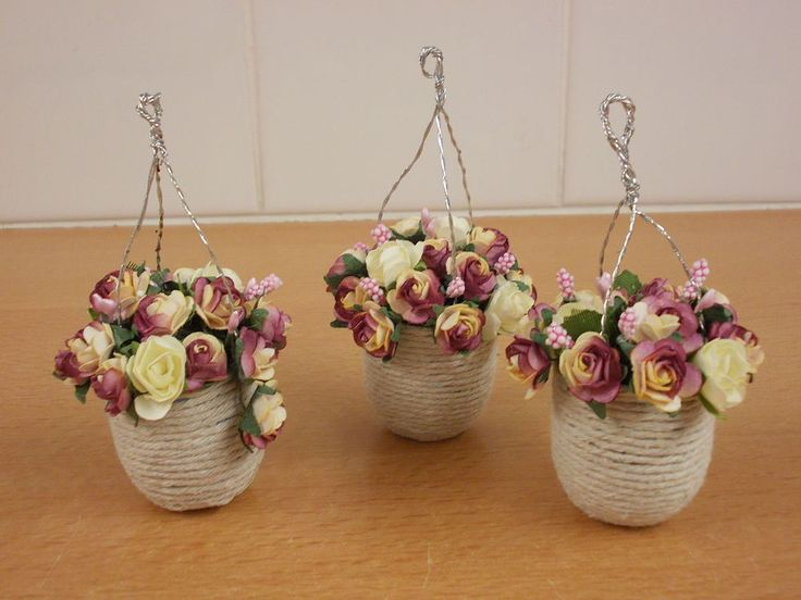 How To Make Hanging Baskets For A Dolls House