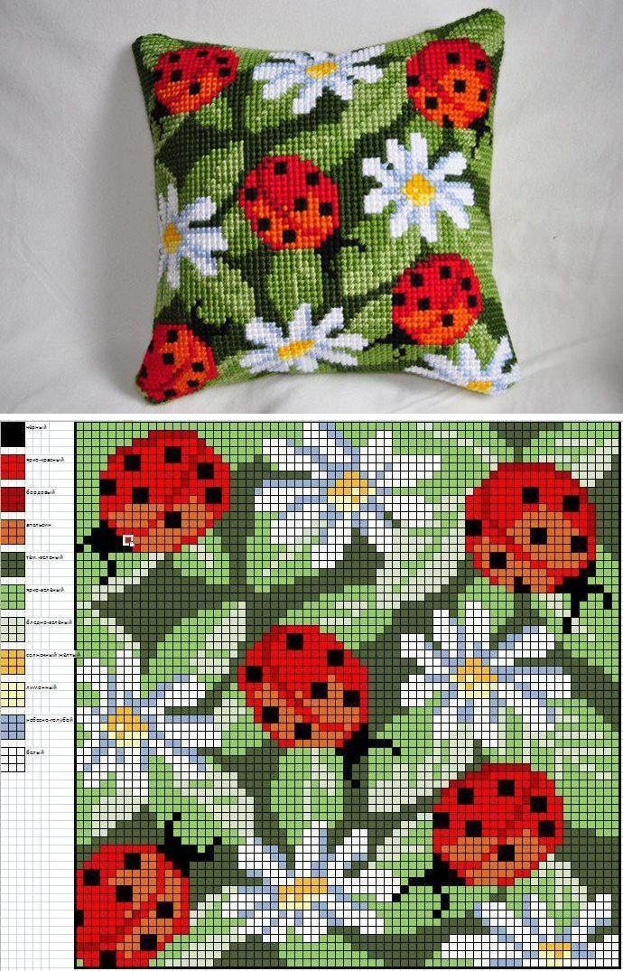 Lady Bugs embroidery pattern