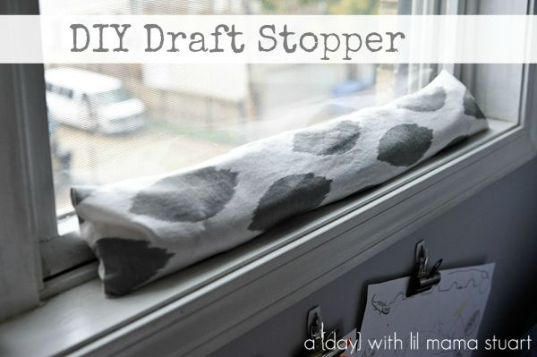 DIY and Crafts.  Cute DIY Draft Stopper. These things work wonders for the cold winter days (and energy bills!) | How Does She...