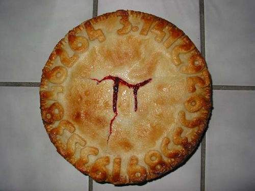 heehee i love it!: Apples Pies, Gifts Cards, Piday, Grad Parties, Math Lovers, Nerd Food, Pi Pies, Meat Pies, Cakes Wreck