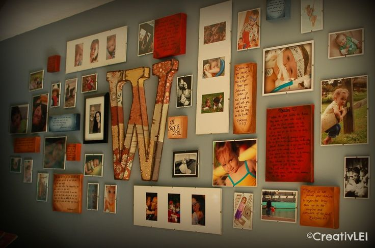 family picture wall display | What creative thing have you done this month? Be sure to share with us ...