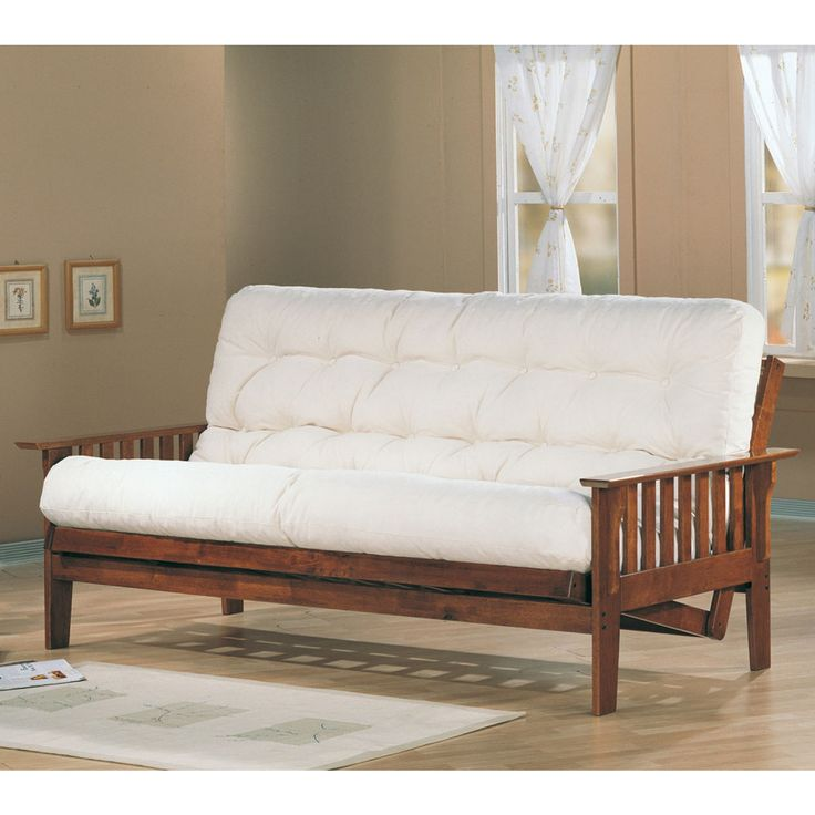 Coaster Oak Transitional Futon Frame