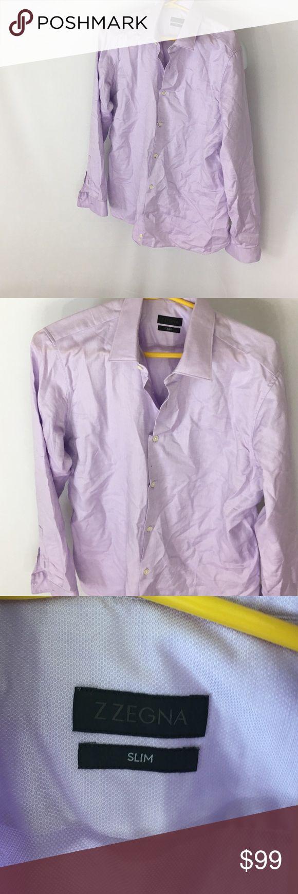 Brand NEW Z ZEGNA Slim Fit Dress Shirt Size: 41/16 Brand NEW from Nordstrom Z ZEGNA Men's Slim Fit Dress Shirt Color: Pale Purple Size: 41 Neck: 16 Z Zegna Shirts Dress Shirts