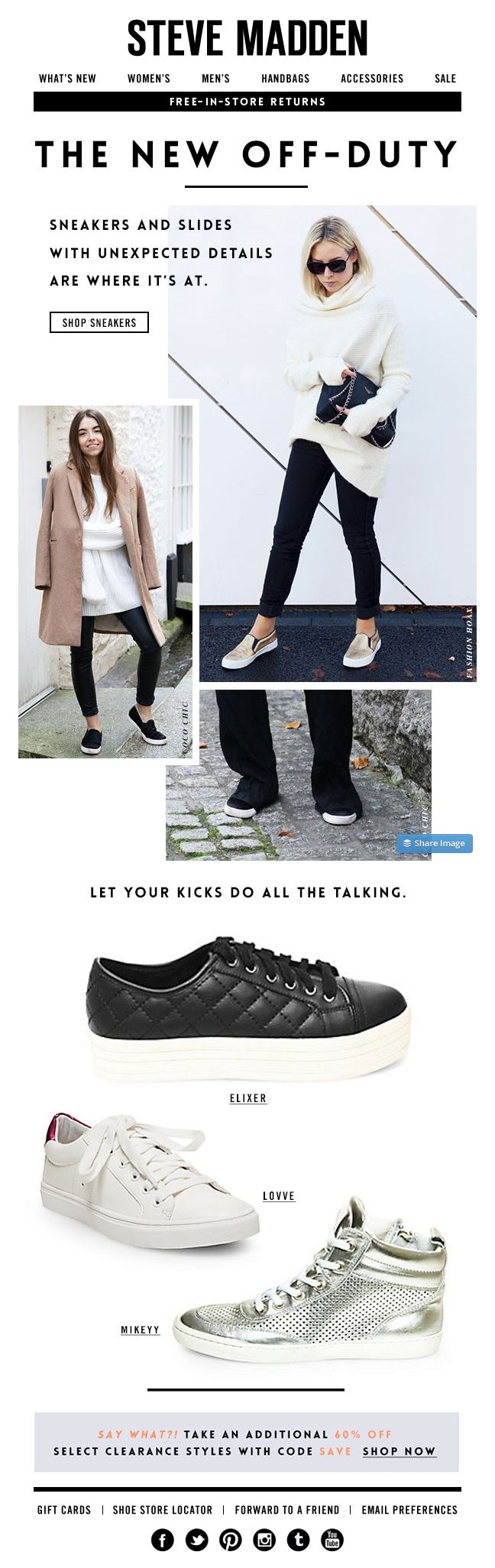 Steve Madden | newsletter | fashion email | fashion design | email | email marketing | email inspiration | e-mail