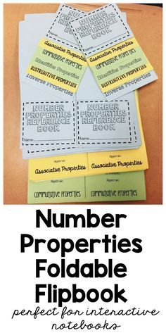 Number Properties Foldable Flipbook | Associative Property | Commutative Property | Distributive Property