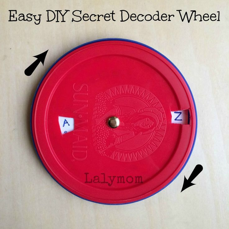 Secret Decoder Wheel from Lalymom