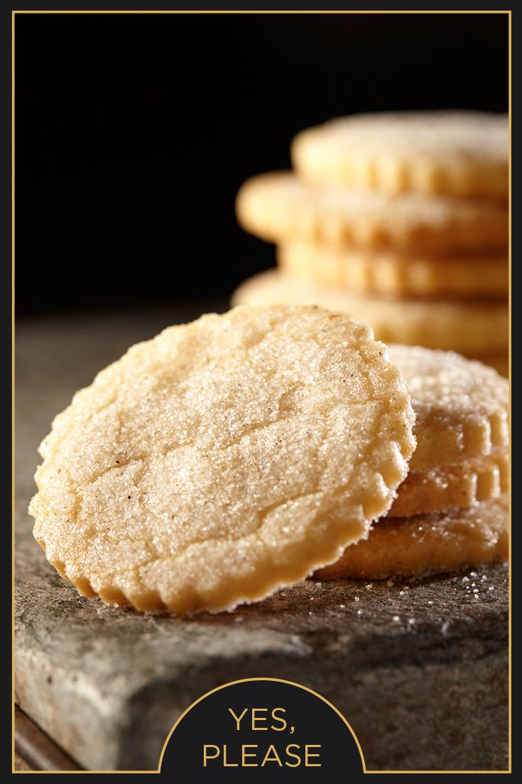 """Say, """"Yes, please"""" to these crispy sugar cookies, lightly dusted with cardamom sugar."""