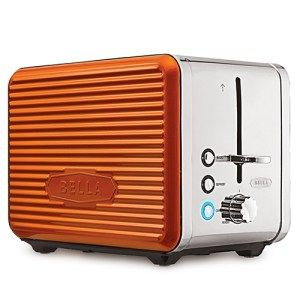 Bella Linea Collection 2-Slice Toaster:  This may seem like a small device but rest assured, as this device has all the functionalities of a  modern toaster. Not only is the design super attractive but the features are awesome as well. For $45, you'll get a decent sized toaster with 2 slice accommodation and a range of different colors like red, lime and orange.