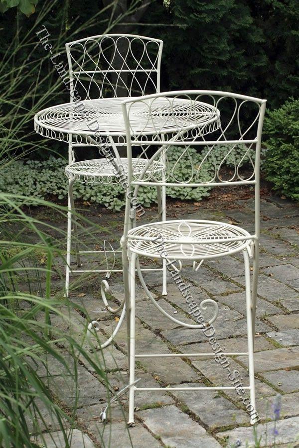 Small Cobblestone Patio? Wrought Iron Garden FurnitureMetal ...