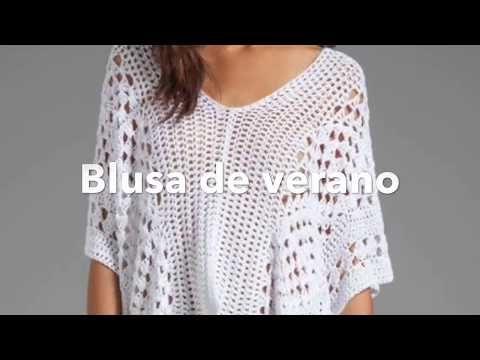 Blusa de Crochê para Todos os Tamanhos / Tutorial | Crochê e Duas Agulhas - Padrões ...