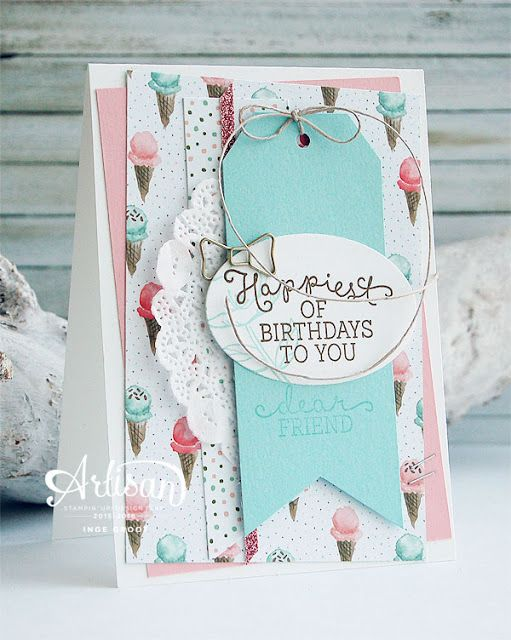 Stampin' Cards and Memories: Artisan Design Team 2015-2016 Bloghop #4