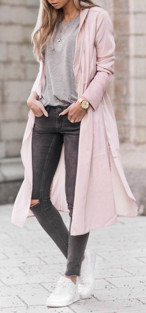 #fall #outfits / pink coat