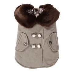 Abrigo gruesa elegante con cuello de piel de animales Dogs (diferentes tamaños) – EUR € 15.54