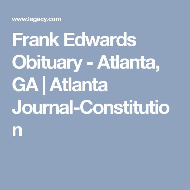 Frank Edwards Obituary - Atlanta, GA | Atlanta Journal-Constitution