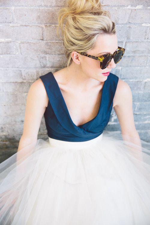 blue bodice, tulle skirt
