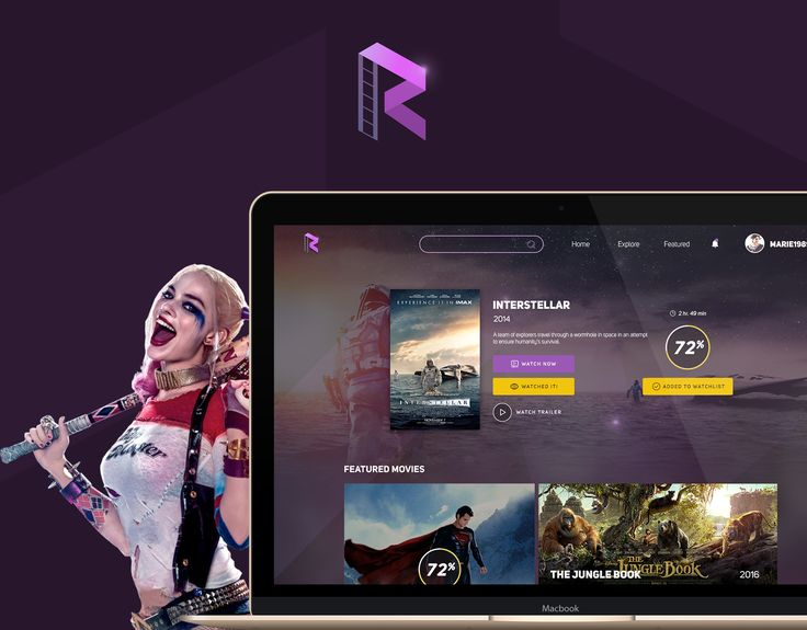 """Check out this @Behance project: """"Rattle Movies - Website""""…"""