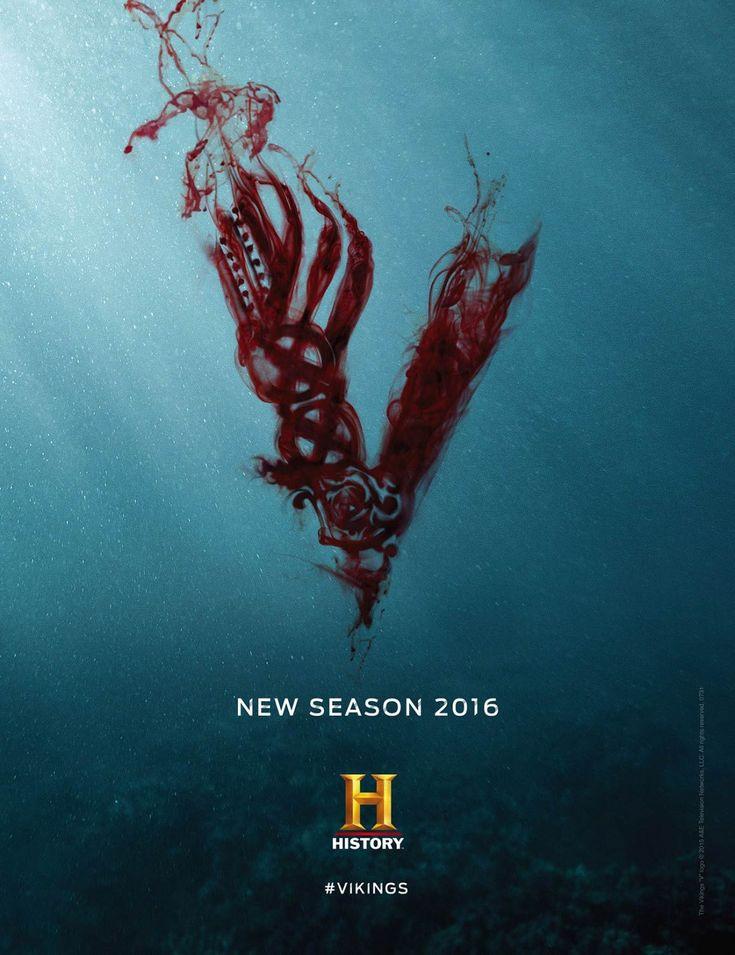 """Vikings Saison 4 : un """"V"""" en sang sur la première affiche - Critictoo Séries TV"""