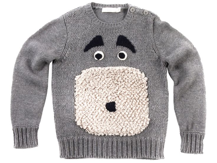 Stella McCartney Kids | Claus Sweater | Orange Mayonnaise
