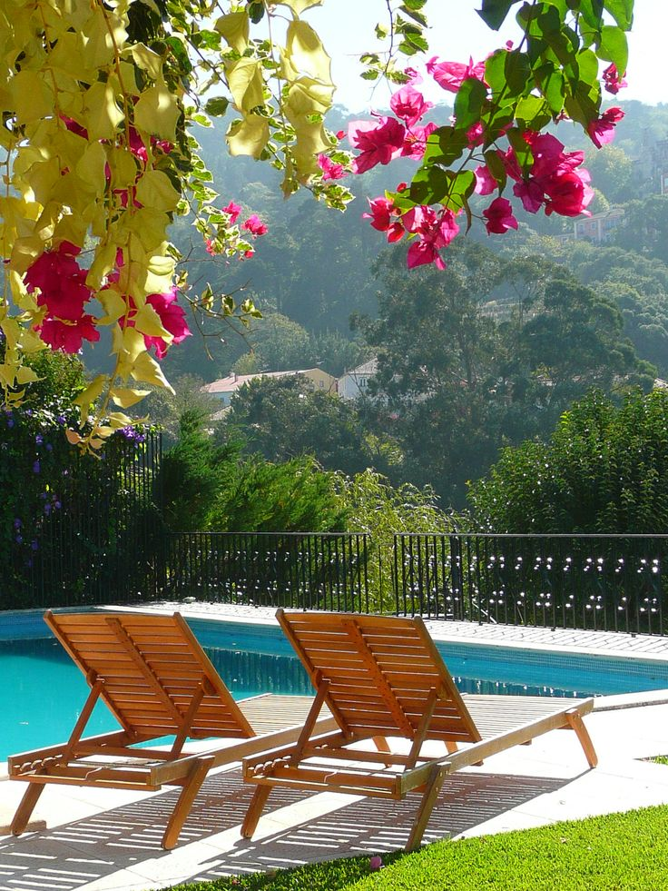 Get some sun while enjoying the sights! #casadovalle #bedandbreakfast #Sintra #Portugal #pool #vacation
