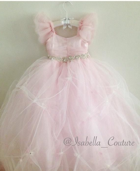 607204b7b Miss Dior CAPRI DRESS by Isabella Couture Flower Girl Dress   Etsy