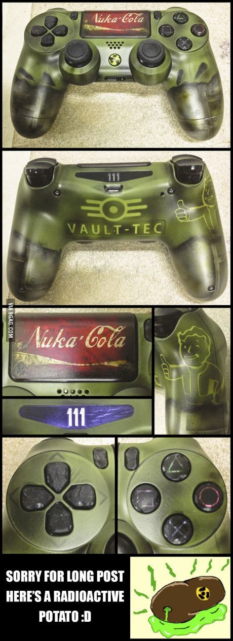 Finished today this Fallout 4 themed customization on a Ps4 controller, hope you guys like it :)