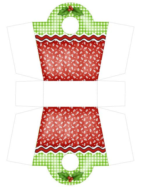 Christmas gift box purse free PDF printable