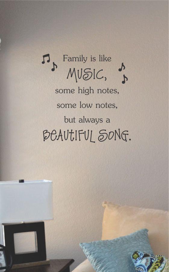 Slap-Art™ Family is like music Vinyl Wall Art by VinylMasterpieces