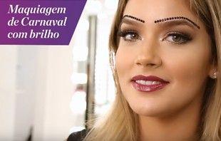 Em parceria com a Beleza na Web, a maquiadora Nádia Tambasco convidou a amiga Marcella Tranchesi para um passo a passo de uma maquiagem de carnaval.