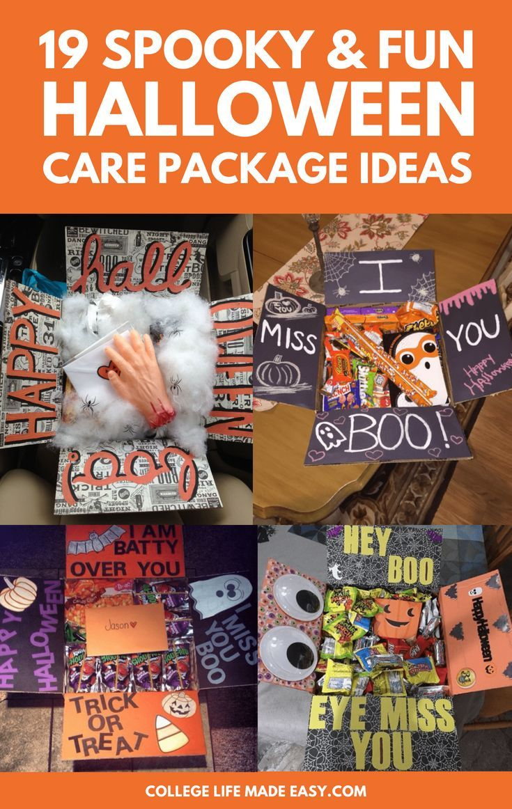 Halloween gift baskets for college students