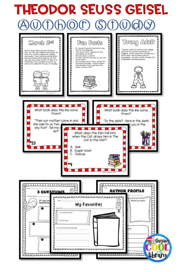 Author Study: Reading Response Bookmark & Graphic ...