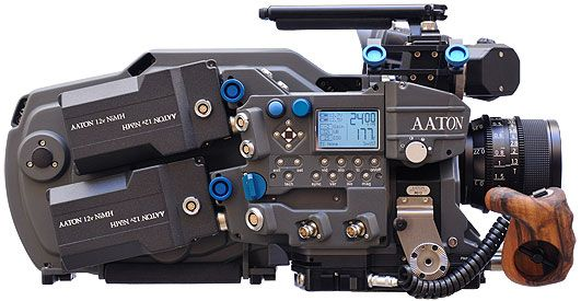 Aaton Penelope. film, digital, same camera. 35mm switchable between 2 & 3 perf. 4K 'digital mag' pops onto the back.