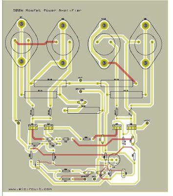 500W Mosfet Power Amplifier circuit