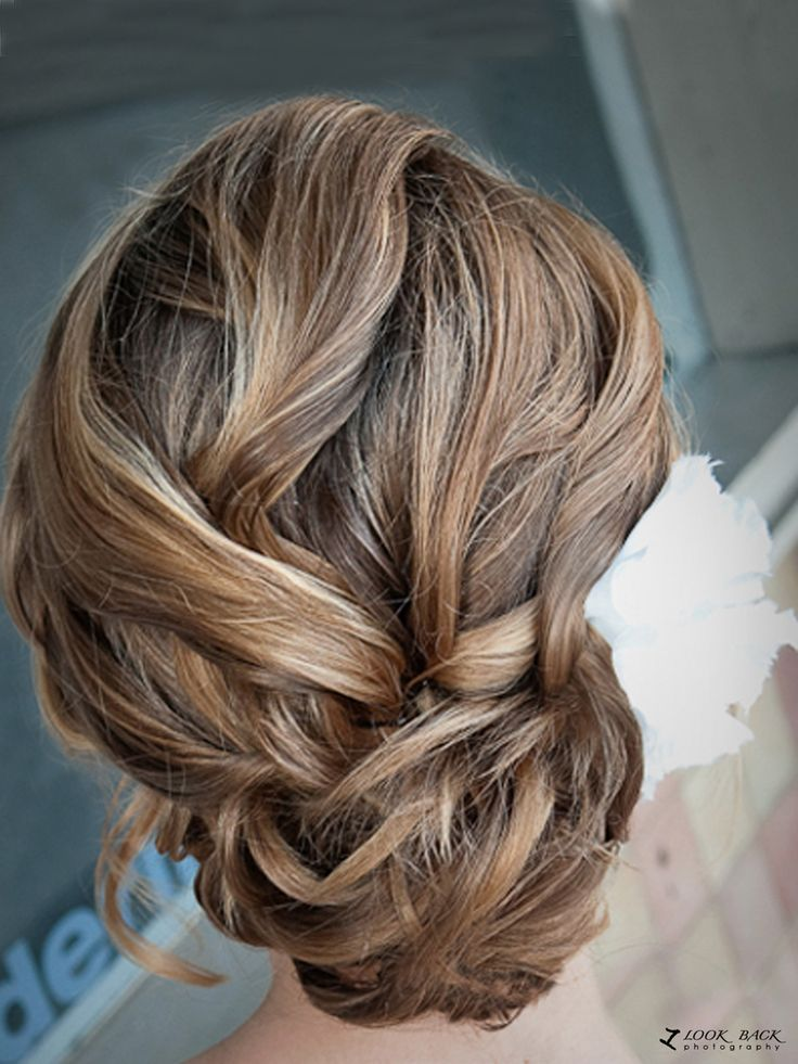 curled updo if I did an updo, this would be it!