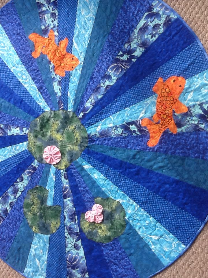 24 best images about water lily quilt ideas on pinterest for Koi pond quilt pattern