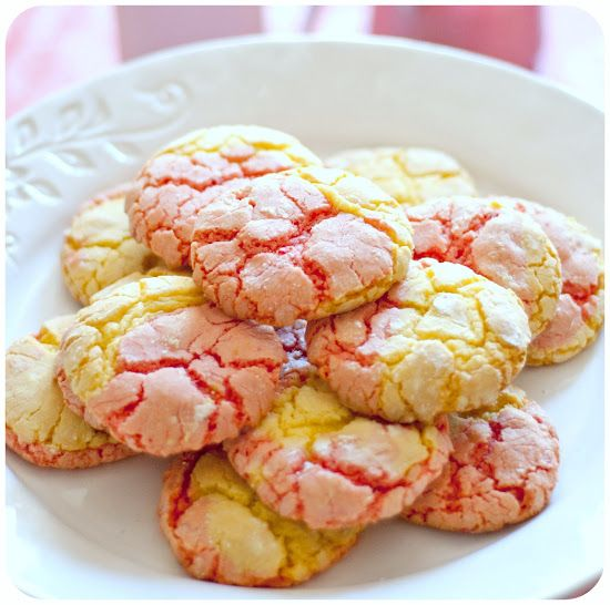Strawberry Lemonade Cookies and a Mother's Prayer | Mother's Mementos (made from Strawberry and Lemon Cake Mix)