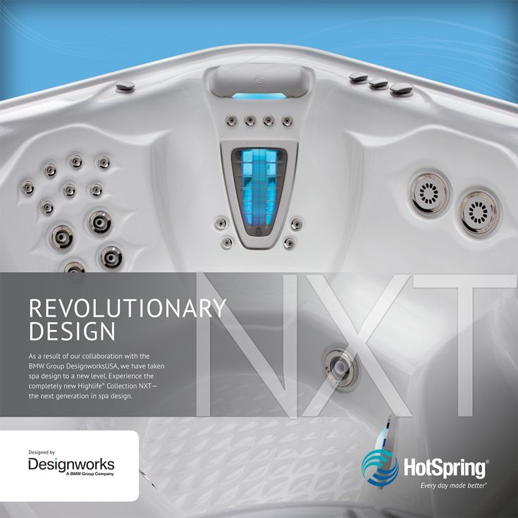 12 best hot tub installation ideas images on pinterest backyard with input from designworks a bmw group company the stunning hot spring spas highlife collection nxt spas represent the future of spa design sciox Image collections